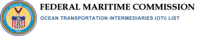 Federal Maritime Commission: Ocean Transportation Intermediaries (OTI) List